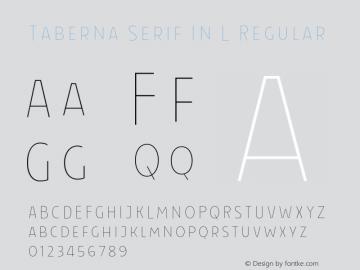 Taberna Serif In L Regular Version 1.000;PS 001.000;hotconv 1.0.88;makeotf.lib2.5.64775 Font Sample