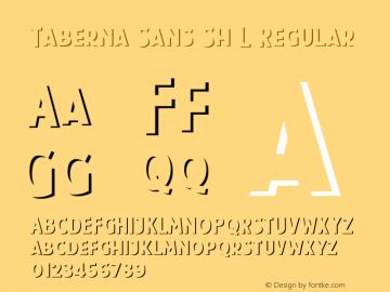 Taberna Sans Sh L Regular Version 1.000;PS 001.000;hotconv 1.0.88;makeotf.lib2.5.64775 Font Sample