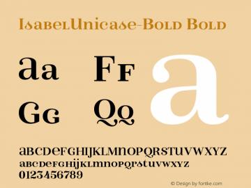 IsabelUnicase-Bold Bold Version 1.000;PS 001.000;hotconv 1.0.88;makeotf.lib2.5.64775 Font Sample