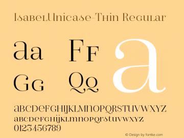 IsabelUnicase-Thin Regular Version 1.000;PS 001.000;hotconv 1.0.88;makeotf.lib2.5.64775图片样张