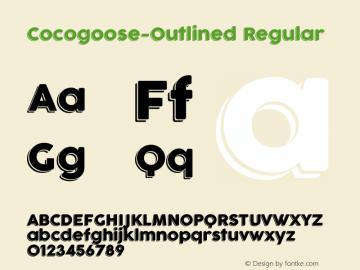 Cocogoose-Outlined Regular Version 1.000 Font Sample