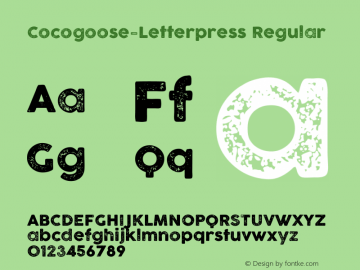 Cocogoose-Letterpress Regular Version 1.006 Font Sample