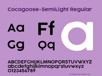 Cocogoose-SemiLight Regular Version 1.000 Font Sample