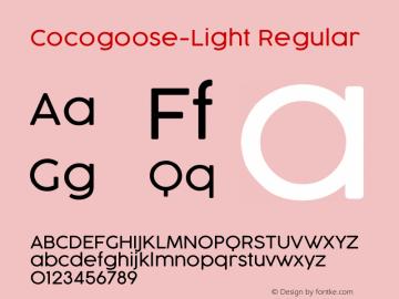 Cocogoose-Light Regular Version 1.000 Font Sample