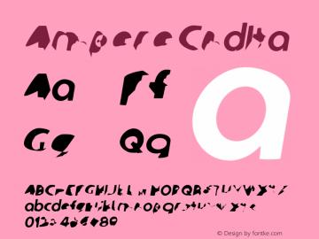 Ampere CndIta Version 1  Font Sample