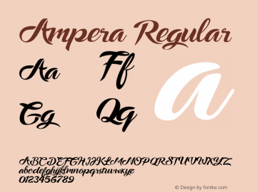 Ampera Regular Version 1.000 Font Sample