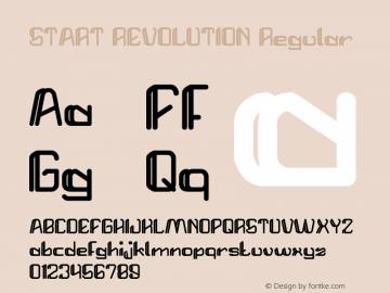 START REVOLUTION Regular Version 1.00 April 25, 2017, initial release Font Sample