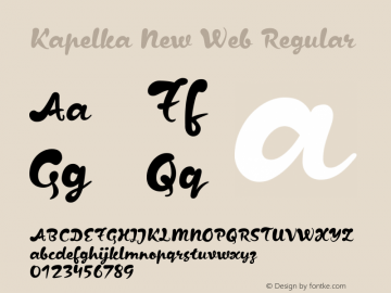Kapelka New Web Regular Version 1.000W Font Sample