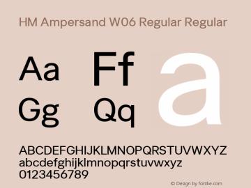 HM Ampersand W06 Regular Regular Version 2.10图片样张