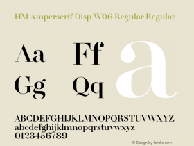 HM Amperserif Disp W06 Regular Regular Version 1.02图片样张