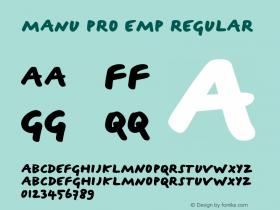 Manu Pro Emp Regular Version 1.0图片样张