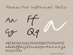 Manu Pro Informal Italic Version 1.000图片样张