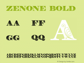 Zenone Bold Version 1.000图片样张