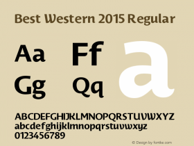Best Western 2015 Regular Version 1.00 June 5, 2016, initial release图片样张