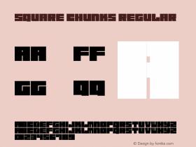 Square Chunks Regular Version 1.00 April 30, 2017, initial release图片样张
