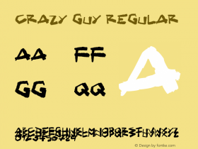 Crazy Guy Regular Version 1.00 April 30, 2017, initial release图片样张