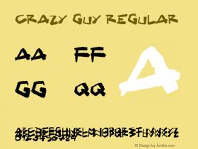 Crazy Guy Regular Version 1.00 April 30, 2017, initial release图片样张