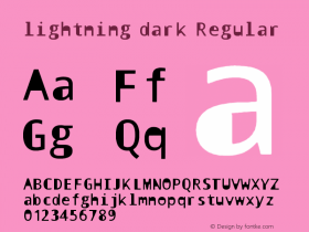lightning dark Regular 1.0图片样张