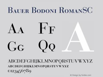 Bauer Bodoni Roman Small Caps & Oldstyle Figures Version 001.001图片样张