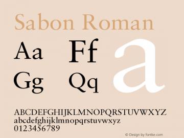 Sabon Roman Version 001.001图片样张