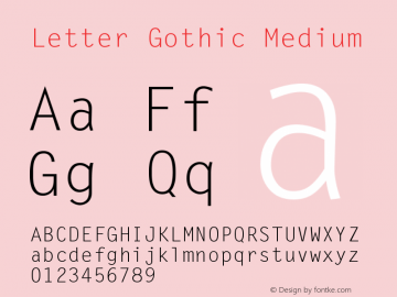 Letter Gothic Version 001.003图片样张