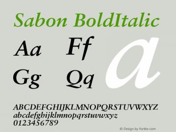 Sabon Bold Italic Version 001.001图片样张