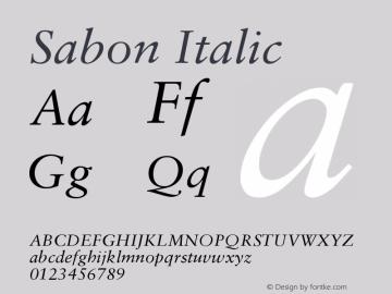 Sabon Italic Version 001.001图片样张