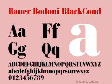 Bauer Bodoni Black Condensed Version 001.001图片样张