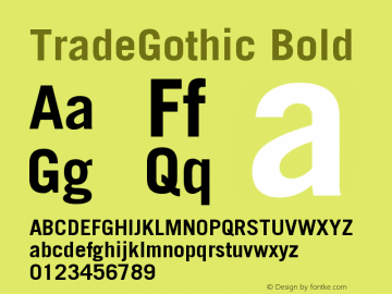 Trade Gothic Bold Version 001.001图片样张