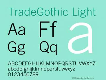 Trade Gothic Light Version 001.001图片样张