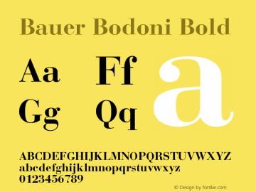 Bauer Bodoni Bold Version 001.003图片样张