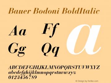 Bauer Bodoni Bold Italic Version 001.003图片样张