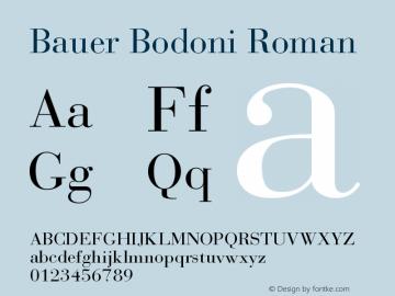 Bauer Bodoni Roman Version 001.003图片样张