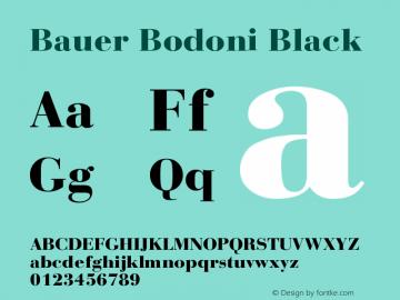 Bauer Bodoni Black Version 001.001图片样张