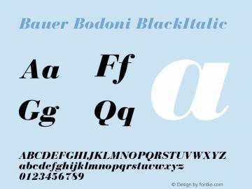Bauer Bodoni Black Italic Version 001.001图片样张