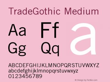 Trade Gothic Version 001.001图片样张
