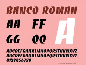 Banco Version 001.000图片样张