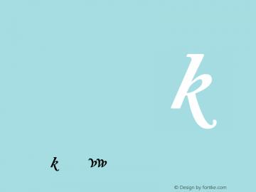Adobe Caslon Bold Italic Alternate Version 001.001图片样张