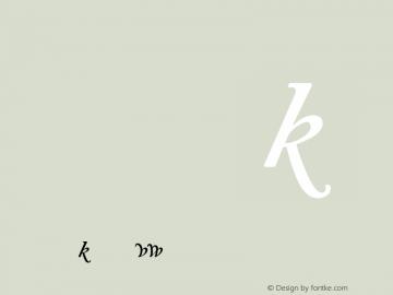 Adobe Caslon Semibold Italic Alternate Version 001.001图片样张