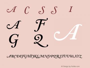 Adobe Caslon Semibold Italic Swash Version 001.001图片样张