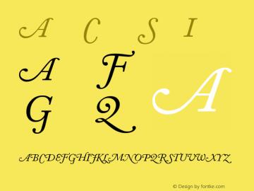 Adobe Caslon Italic Swash Version 001.001图片样张