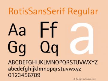 Rotis Sans Serif 55 Version 001.000图片样张