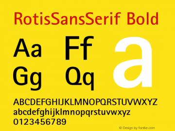 Rotis Sans Serif Bold 65 Version 001.000图片样张