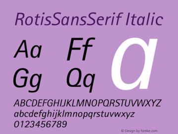 Rotis Sans Serif Italic 56 Version 001.000图片样张