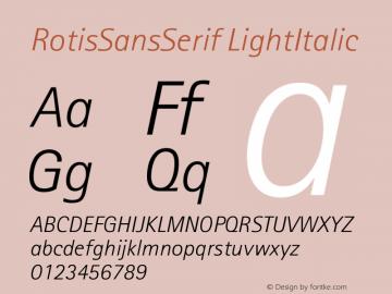 Rotis Sans Serif Light Italic 46 Version 001.000图片样张