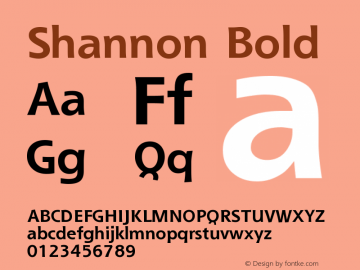 Shannon Bold Version 001.000图片样张