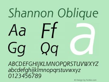 Shannon Oblique Version 001.000图片样张