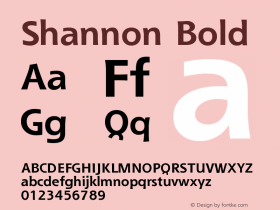 Shannon Bold Version 001.000图片样张