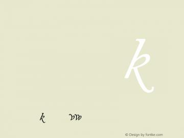 Adobe Caslon Italic Alternate Version 001.001图片样张