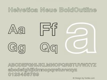 Helvetica Neue Font,Helvetica 75 Bold Outline Font